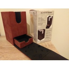Ultra Pro Alcove tower - cube box, leather effect box, burgundy