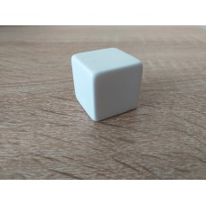 6 - sided blank dice (White)