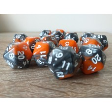 20-sided dice (orange - gray)