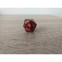 20-sided dice (burgundy)