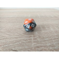 20-sided dice (orange - gray)