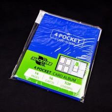 Blackfire 4 Pocket Card Album - Blue