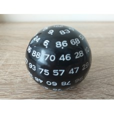 100 - sided dice (black, white number)