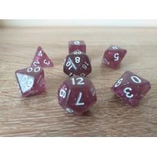 Dice set (4-6-8-10-12-20-%) purple, pearl