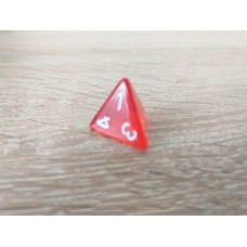 4-sided dice (red)