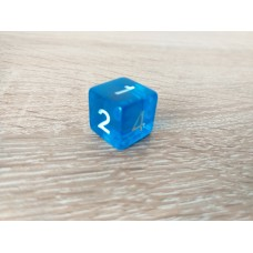 6-sided dice (blue)