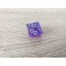 %-sided dice (purple)