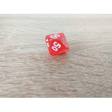 %-sided dice (red)